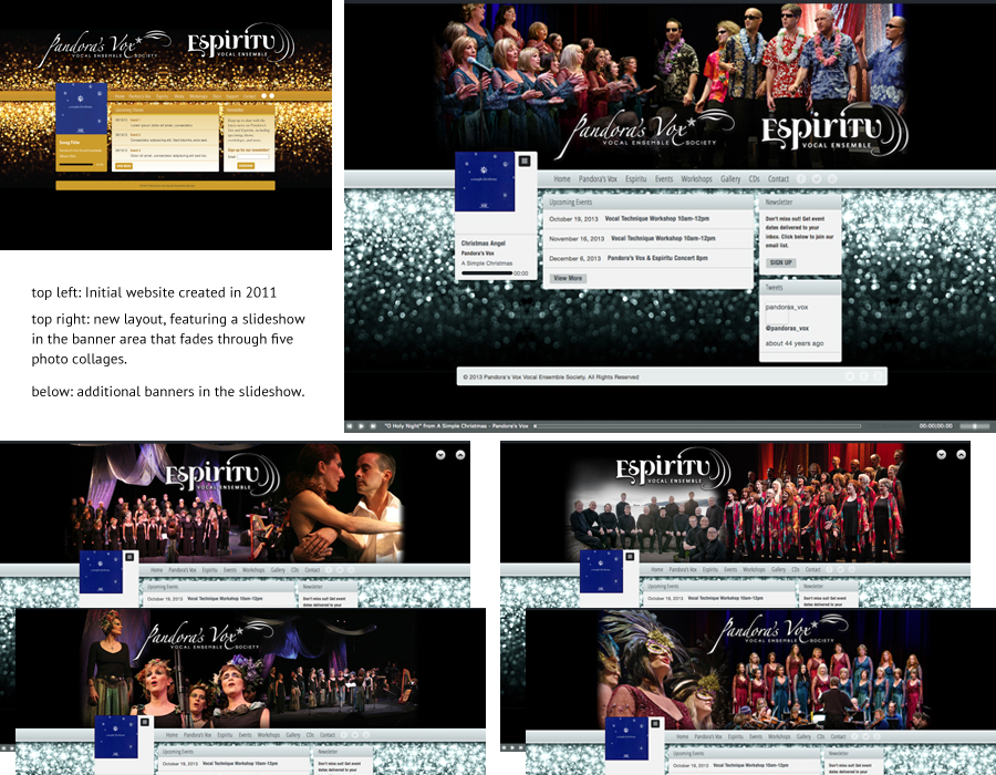 Pandora's Vox and Espiritu Vocal Ensemble Website Refresh